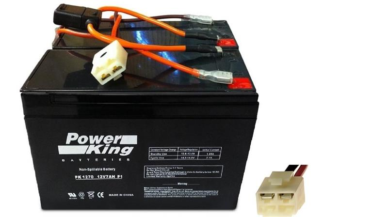 Razor Scooter Batteries Includes (2) 12V 7ah & Wiring Harness