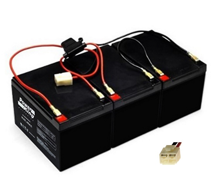 Razor MX500 & MX650 Replacement Batteries Wiring Harness (3) 12V 12ah | Battery Wiring Harness |  | Beiter DC Power